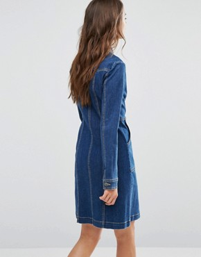 photo Denim Dress with Zip by Gestuz, color Blue - Image 2