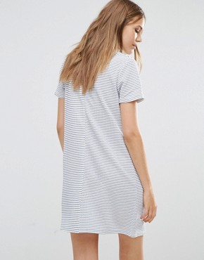 photo Zinnia Tunic Dress by Poppy Lux, color White/Black Stripe - Image 2