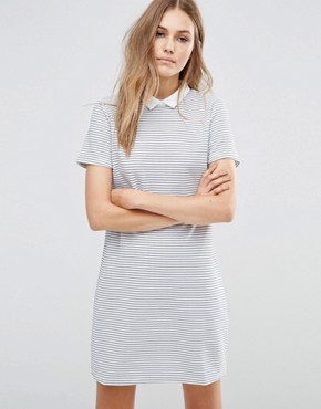 photo Zinnia Tunic Dress by Poppy Lux, color White/Black Stripe - Image 1