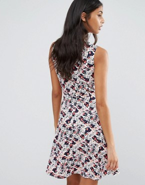 photo Shandie Skater Dress by Poppy Lux, color White Print - Image 2