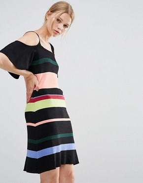 photo Stripe Dress by Style Mafia - Image 1