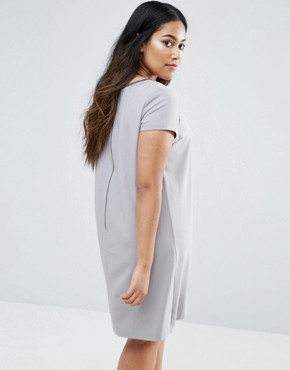 photo Embellished Dress by Elvi Plus, color Grey - Image 2