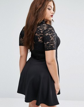 photo Dress with Lace Top by Praslin Plus, color Black - Image 2