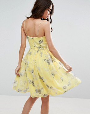 photo Rouched Mini Dress in Sunshine Floral Print by ASOS WEDDING, color  - Image 2