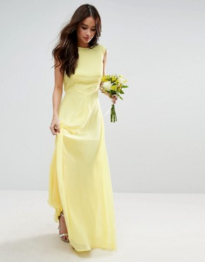 photo Maxi Dress by ASOS WEDDING, color Yellow - Image 1