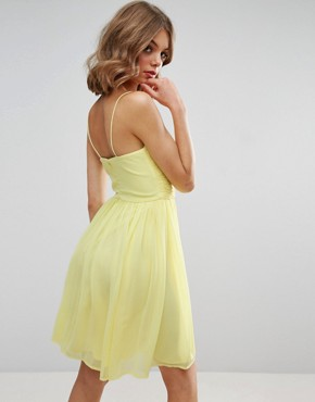photo Rouched Mini Dress by ASOS WEDDING, color Yellow - Image 2