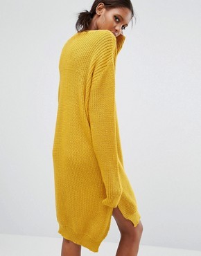 photo Oversized Jumper Dress by Daisy Street Tall, color Mustard - Image 2