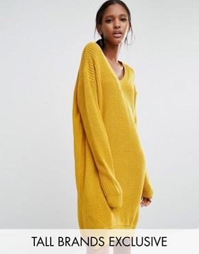 photo Oversized Jumper Dress by Daisy Street Tall, color Mustard - Image 1