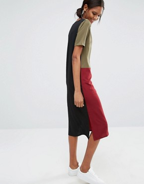 photo Oversized Colour Block Dress by Daisy Street Tall, color  - Image 2