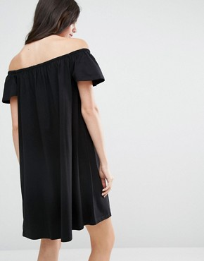 photo Off Shoulder Mini Dress by ASOS TALL, color Black - Image 2