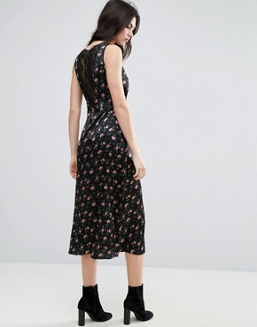photo Floral Tea Dress with Lace Insert by ASOS TALL, color  - Image 2