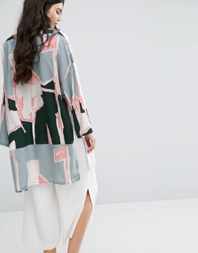 photo Graphic Print Oversized Tunic Dress by Waven Tall, color  - Image 2