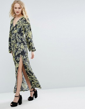 photo Long-Sleeved Maxi Dress In Print by ASOS Made In Kenya, color  - Image 1