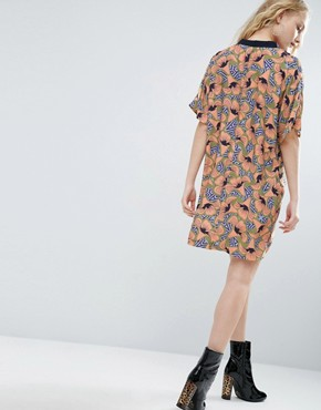 photo Tunic Dress In Geo Floral With Pockets by ASOS Made In Kenya, color  - Image 2