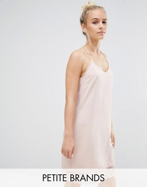 photo Lace Trim Cami Dress by Vero Moda Petite, color Pink - Image 1