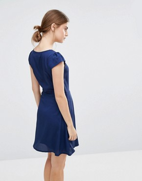 photo Pleated Front Dress by Jasmine, color Navy - Image 2