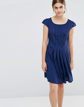 photo Pleated Front Dress by Jasmine, color Navy - Image 1
