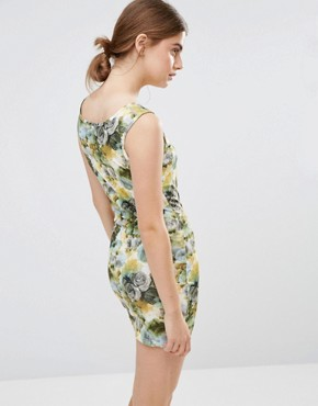 photo Floral Bodycon Dress by Jasmine, color Green - Image 2