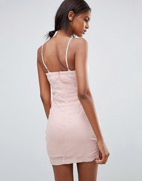 photo Dress with Floral and Ruched Side Detail by Jasmine, color Pink - Image 2