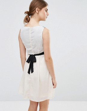 photo Skater Dress with Floral Top by Jasmine, color Cream - Image 2