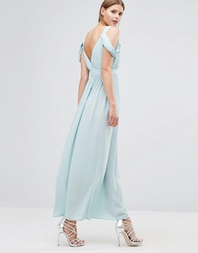 photo Cowl Shoulder Maxi Dress by Oh My Love, color Mint - Image 2