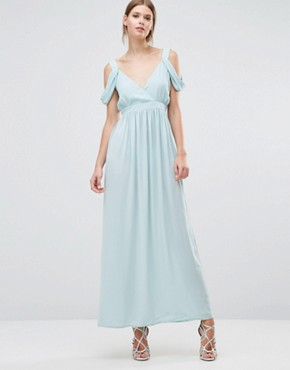 photo Cowl Shoulder Maxi Dress by Oh My Love, color Mint - Image 1
