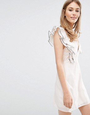 photo Remind Me Mini Dress with Frill by Keepsake, color Blush - Image 1