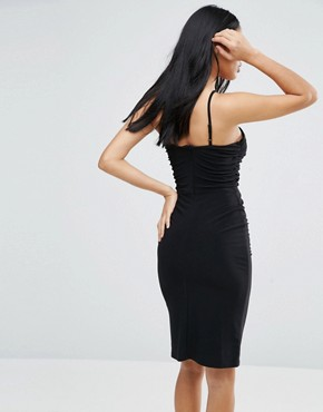 photo Ruched Dress with Cut Out Detail by Love, color Black - Image 2
