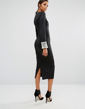 photo Pearler 'Round Dress by Asilio, color Black/Pearl - Image 2