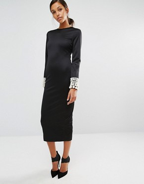 photo Pearler 'Round Dress by Asilio, color Black/Pearl - Image 1
