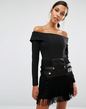photo Mixed Metal Dress by Asilio, color Black - Image 1