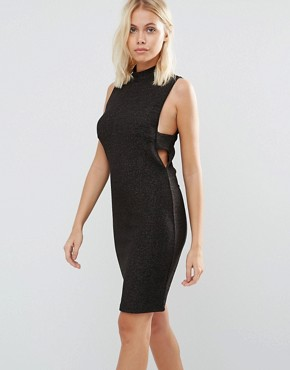 photo Sleeveless Bodycon Dress with Cut Out Sides by Vila, color Rose Gold - Image 1