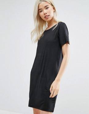 photo Metallic T-Shirt Dress by Vila, color Black - Image 1