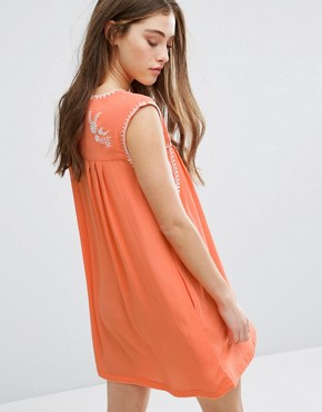 photo Lee Embroidered Dress by Little White Lies, color Orange - Image 2