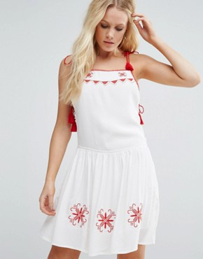 photo Carys Skater Dress by Little White Lies, color White - Image 1