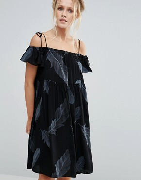 photo Francoise Cold Shoulder Dress by Little White Lies, color Black - Image 1
