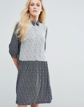photo Mirelle Shirt Dress In Starprint by Little White Lies, color Star print - Image 1