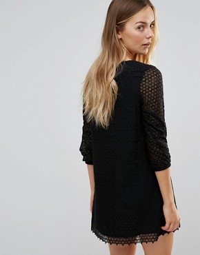 photo Fion Lace Up Front Dress by Little White Lies, color Black - Image 2
