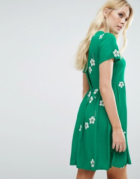 photo Daisy Age Skater Dress by Little White Lies, color Green - Image 2