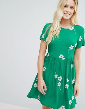photo Daisy Age Skater Dress by Little White Lies, color Green - Image 1