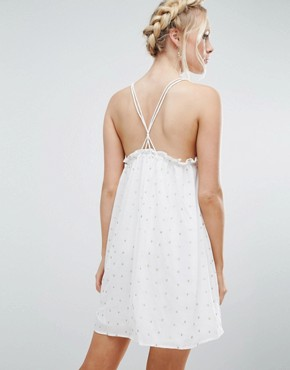 photo Bonham Cami Skater Dress by Little White Lies, color Cream - Image 2