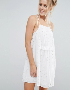 photo Bonham Cami Skater Dress by Little White Lies, color Cream - Image 1
