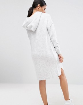 photo Hoodie Jumper Dress in Knit by ASOS, color Grey - Image 2