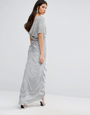 photo Keira Maxi Dress with Ruched Skirt by Virgos Lounge, color Grey - Image 2