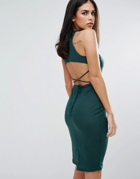 photo Choker Strapless Dress by Unique 21, color Green - Image 2