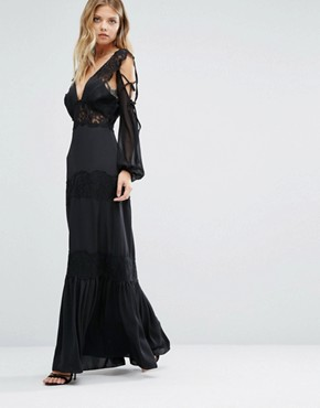 photo Ronnie Dress with Lace Detailing by Majorelle, color Black - Image 1