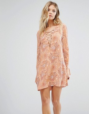 photo Roundup Smock Dress by Majorelle, color Paisley - Image 1
