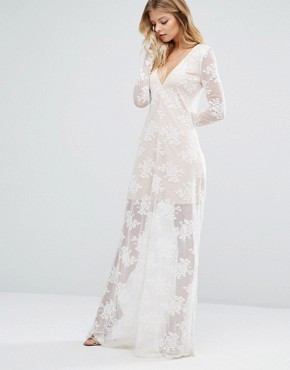 photo Maxi Dress in Ivory by Majorelle, color Ivory - Image 1