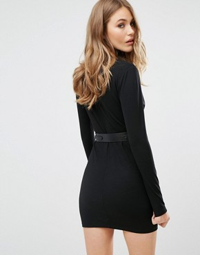 photo Night Hawk Dress in Black by Majorelle, color Black - Image 2