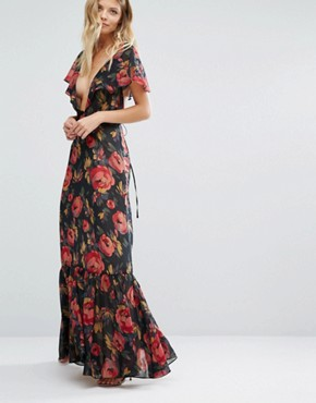 photo Opulence Maxi Dress by Majorelle, color Rose Floral - Image 1